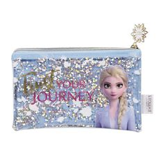 Frozen 2 Clear Pencil Case with Sparkles