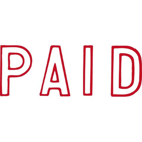 Xstamper Stamp Paid Outline Red
