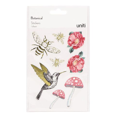 Uniti Botanical Clear Stickers