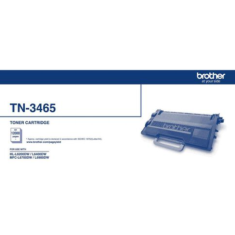 Brother TN3465 Toner Black (12000 Pages)