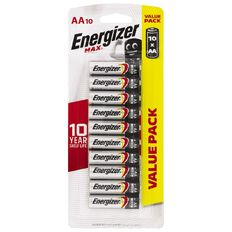 Energizer Max Battery AA 10 Pack