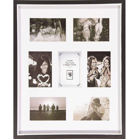 Uniti Two Tone Collage Box Frame Black 40 x 50cm