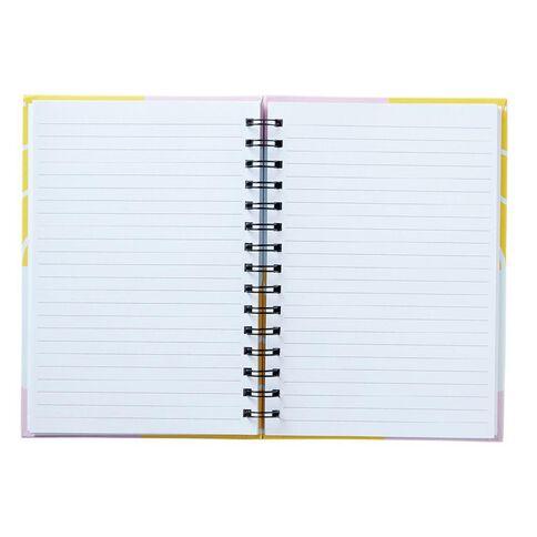 Uniti Geo Notebook Spiral Pink A5