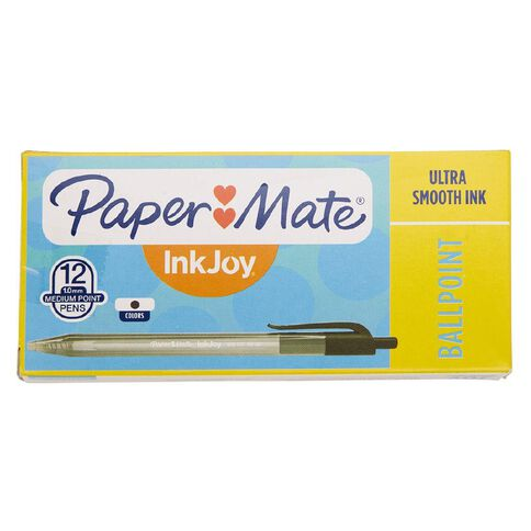 Paper Mate Inkjoy 100RT Black 12 Pack