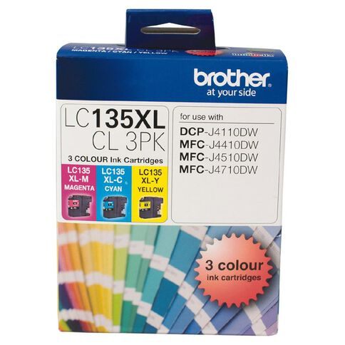 Brother Ink LC135XL Colour 3 Pack (1200 pages)