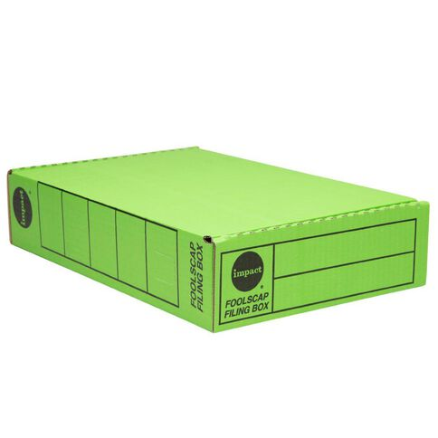 Impact Storage Box Foolscap Green