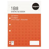 Impact Exercise Book 1B8 7mm Ruled 36 Leaf Punched