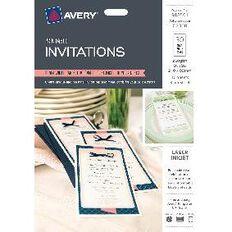 Avery Labels Invitations 10 Sheet White