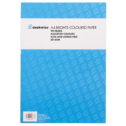 Deskwise Paper Pad Bright A4 90 Page