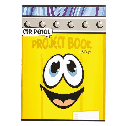 Mr Pencil Project Book 24 Leaf Mix FSC Yellow