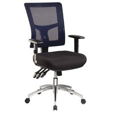 Jasper J Enduro Blue Chair with Alloy base and Adjustable Arms