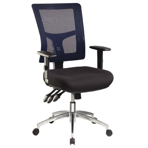Jasper J Enduro Blue Chair with Alloy base and Adjustable Arms Blue