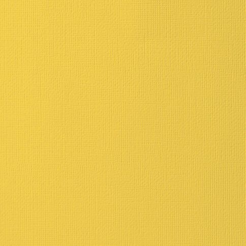 American Crafts Cardstock Textured Sunflower Yellow 12in x 12in