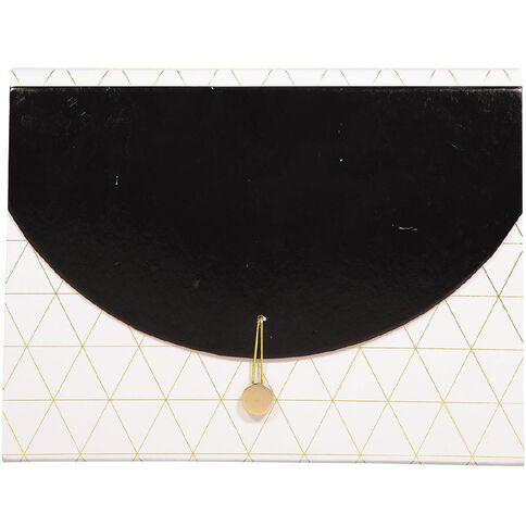 Uniti Black&Gold Expanding File Black/White 13 Pockets