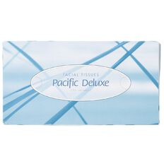 Pacific Deluxe 2 Ply Facial Tissue 100 Sheet White