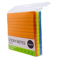 Impact Sticky Notes Lined 101mm x 101mm 70 Sheets 3 Pack