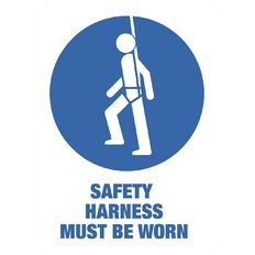 Impact Safety Harness Must be Worn Sign Large 610mm x 460mm