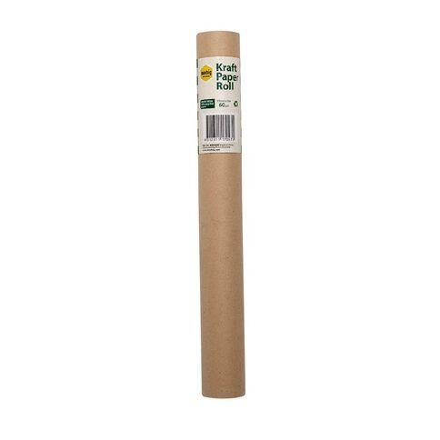 Marbig Enviro Kraft Paper Roll 80gsm Brown 375mm x 15m