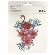Uniti Iron-on Transfer Flamingo