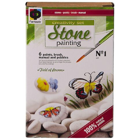 Stone Painting Field Of Flowers
