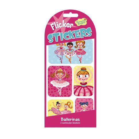 Peaceable Kingdom Stickers Flicker Ballerinas
