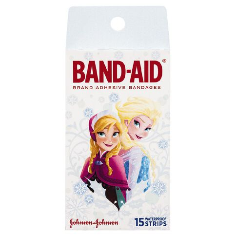 Band Aid Character Strips Frozen 15s