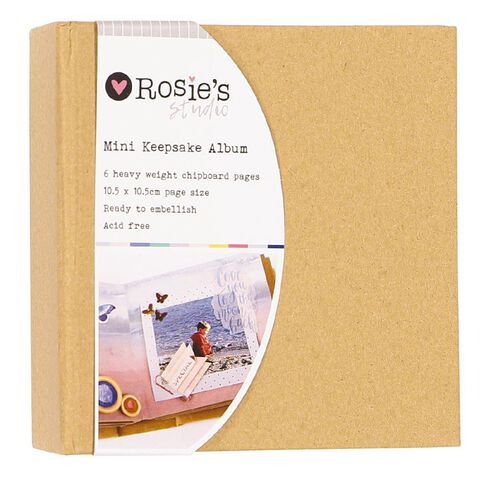 Rosie's Studio Keepsake Mini Album 4in x 4in 6 Page