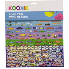 Kookie Sticker Pack 5 Sheets Road Trip