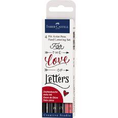 Faber-Castell Pitt Artist Pens Hand Lettering Set 4 Pack