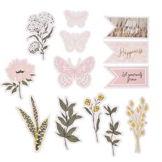 Uniti Secret Garden Cardstock die cut shapes