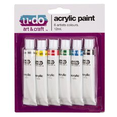 U-Do 12ml Acrylic Paint 6 Pack
