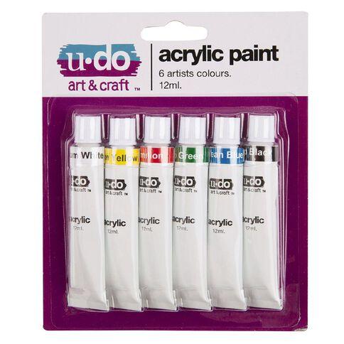 U-Do 12ml Acrylic Paint 6 Pack