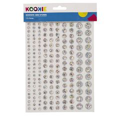 Kookie Gem Stickers 2 Sheets Silver