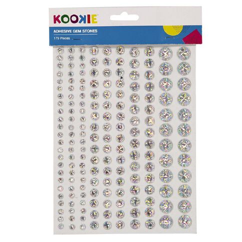 Kookie Gem Stickers 2 Sheets Silver