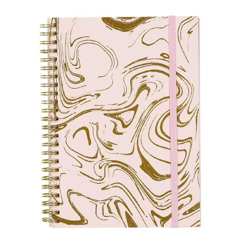 Uniti F&F Spiral Notebook Pink With Gold Foil A5