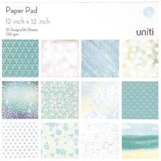 Uniti Paper Pad 24 Sheets 12 Designs Oceania 12in x 12in