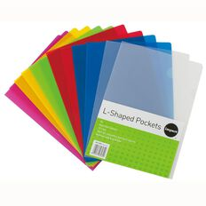 Impact L-Shaped Pockets 12 Pack Assorted A4
