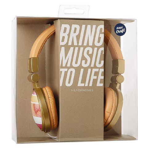 Headphones New Craft Wood Grain