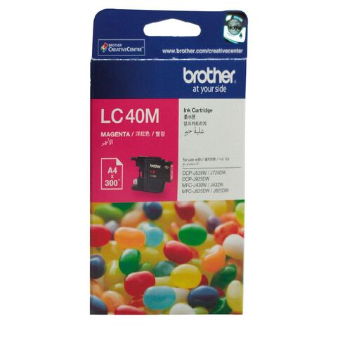 Brother Ink LC40 Magenta (300 Pages)