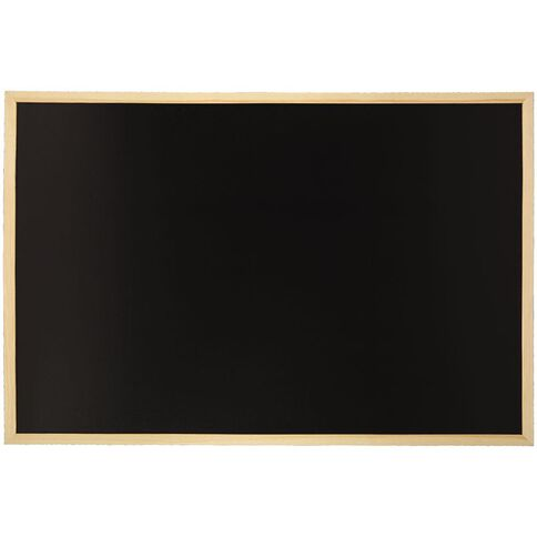 WS Wooden Frame Non-Magnetic Black board 600 x 900mm