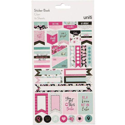 Uniti Sticker Book Glam 16 Sheets