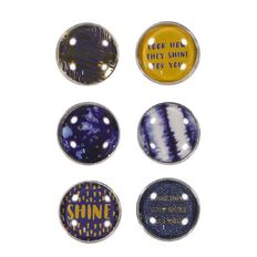 Uniti Fun & Funky Q4 Galaxy Magnets 6 Pack