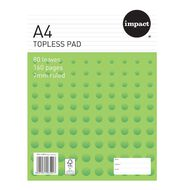 Impact Pad Topless 55gsm 7mm 80 Leaf White A4