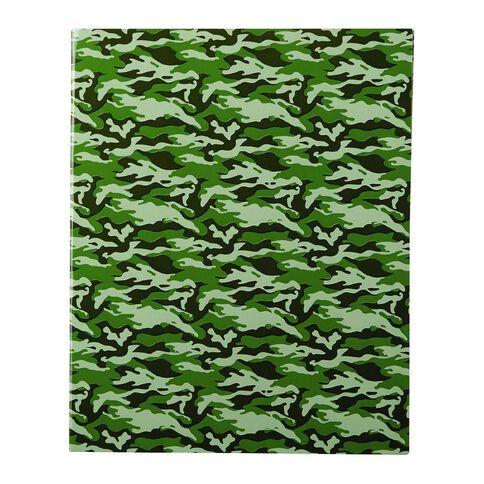 WS Book Cover Camo Green 45cm x 1m