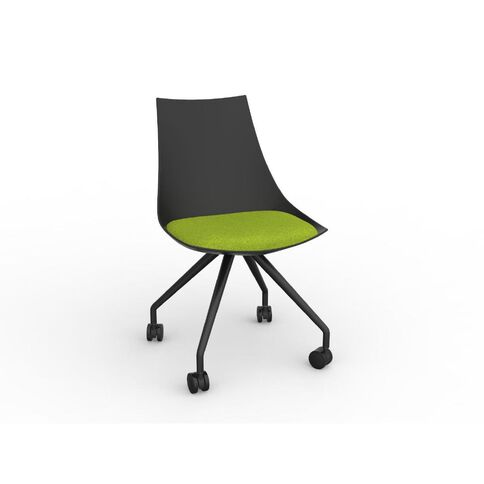 Luna Chair Black Avacado Green Green