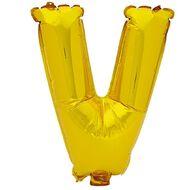Artwrap Foil Balloon V Gold 35cm