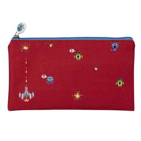 WS Pencil Case Flat Invaders