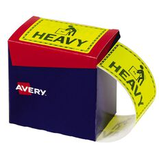 Avery Heavy Labels Fluoro Yellow 750 Labels