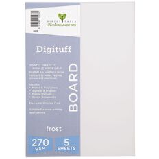 Direct Paper Digituff 270gsm 5 Pack Frost A4