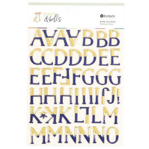 Rosie's Studio Bows & Bells Foil Alphabet 2 Sheets
